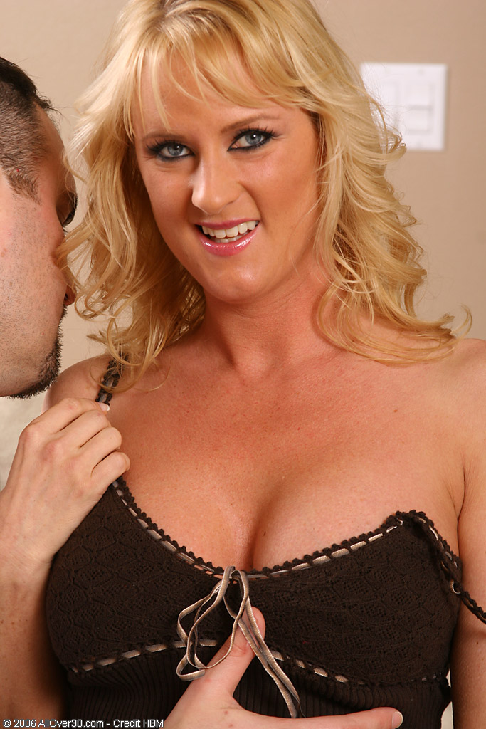 Blond  Older Babe Loves the Feel of Junior Cock