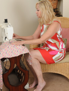 Super  Super  Super Horny 57 Year Old Annabellle from  Milfs30 Takes a Break from Sewing