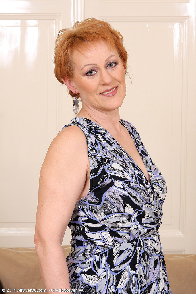 50 Year Old Redheaded Edo  Opening Up Her  Bushy  Beaver Broad for You