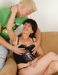 Hot  Brown Haired Juliette Gets Her  Older Babe  Beaver Packed with Junior Cock