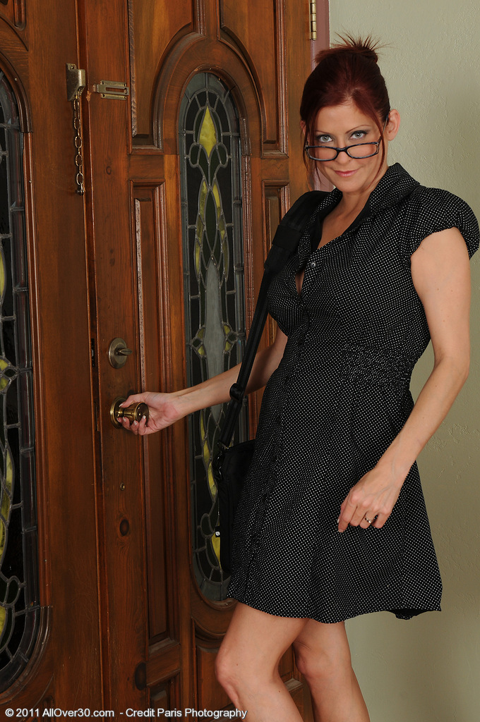 Lya Pinkish from  Milfs30  Takes off off Her Work  Attire and  Opens Her  Beaver