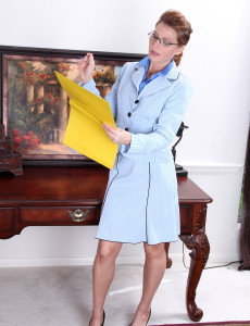 Office  Mom Sky Rodgers Stops Work to Give Us a Beautiful Strip Taunt