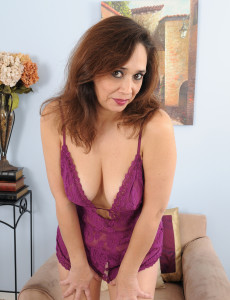 Decked out in Purple Panties Alesia Pleasure Does a Great Strip Tease