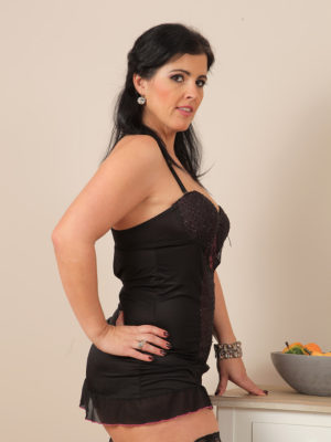 Curvaceous Cutie Montse Swinger Will Require from the Lady Ebony Knickers to Masturbate