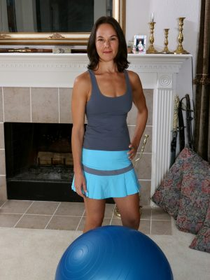 Fit  Cougar Mindy Johansen Regarding Yoga Ball