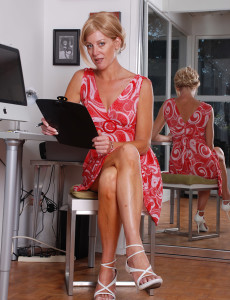 Office Mom Cricket from Milfs30 Exposes Hot Tan Lines and